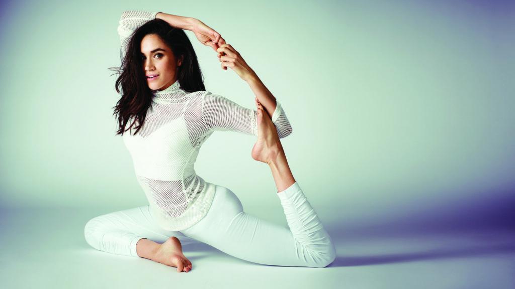 Meghan Markle doing Yoga