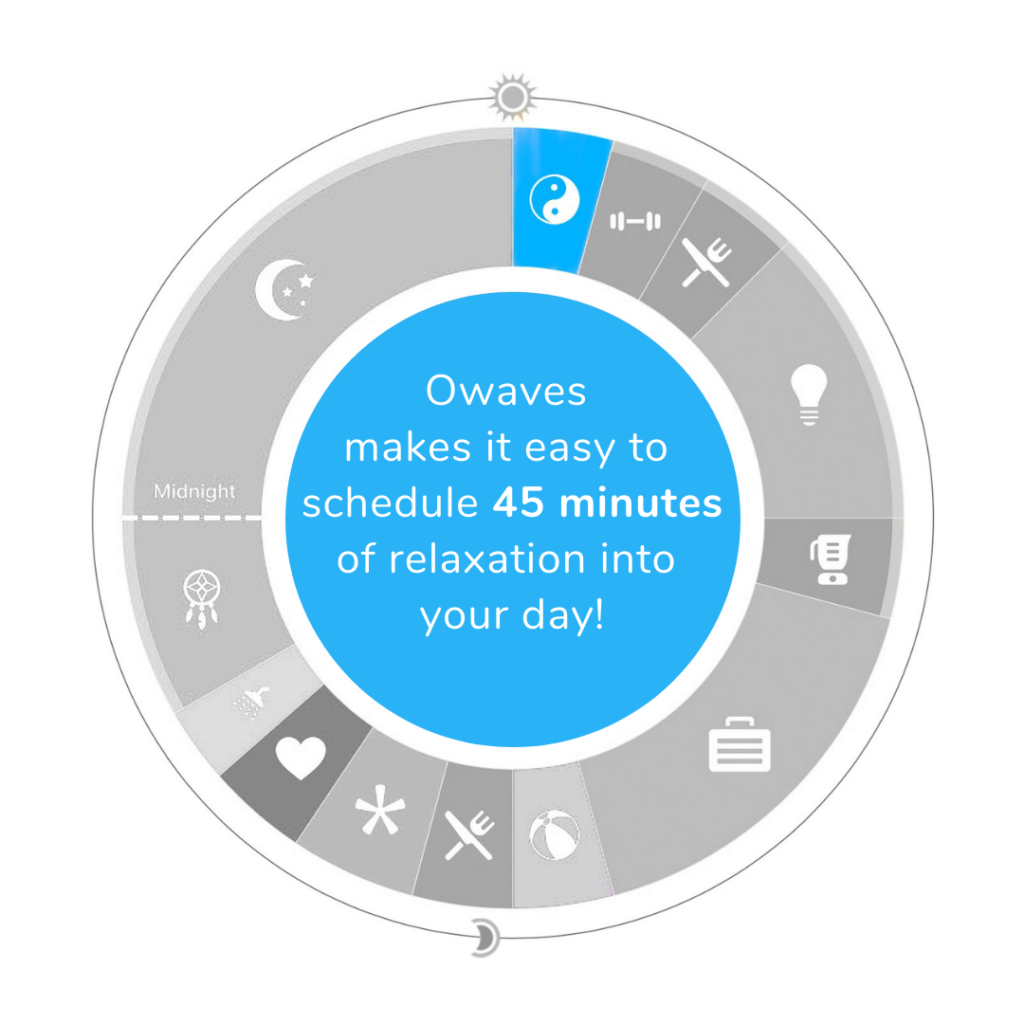Relax-for-Symbols-Blog-1024x1024 The Science of Our Symbols: Owaves' Eight Activity Icons day planning Healthy Lifestyle Owaves101 Time Blocking