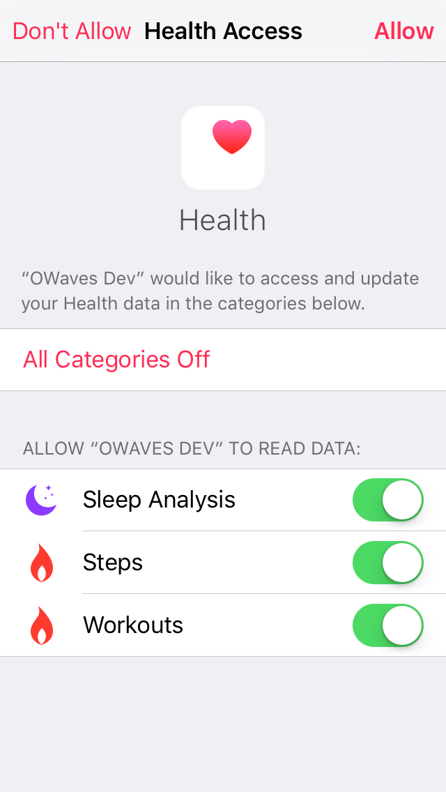 applehealth2 How to Use Owaves to Reach Your 2016 Resolutions Apps Day Planner day planning Owaves101 Productivity